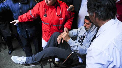 Luis Suarez had a kneehole surgery on Thursday. (AP)