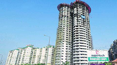 Supertech has claimed the two towers in Noida are being constructed as per 'approved building plans'.