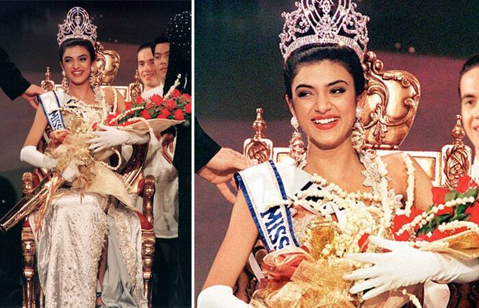 Sushmita Sen, born on November 19, 1975 was crowned Miss Universe 1994 by outgoing title holder Dayanara Torres of Puerto Rico at the 43rd edition of the Miss Universe Pageant. (Source: Twitter/Facebook)