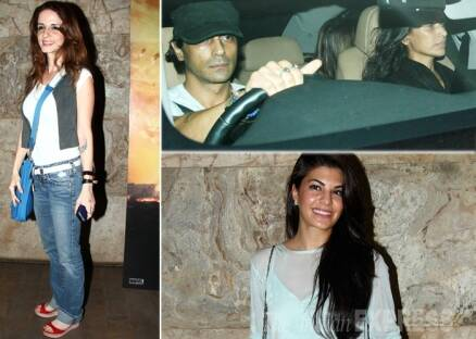 Sussanne Roshan on movie date with Arjun, Mehr Rampal