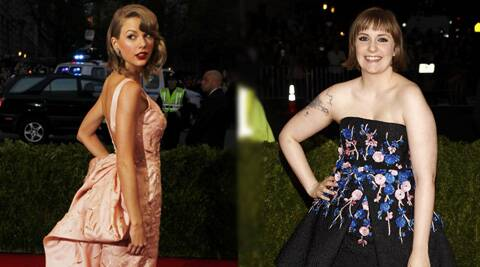Taylor Swift has says Lena Dunham has great taste when it comes to style blogs and stores.