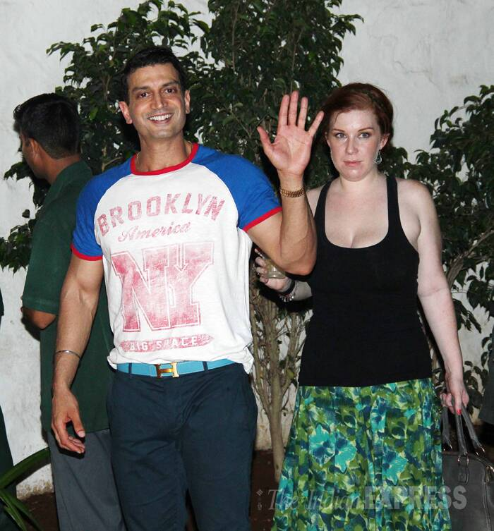 Actress Ishaa Koppikar's husband Timmy Narang happily obliged with a wave. (Photo: Varinder Chawla)