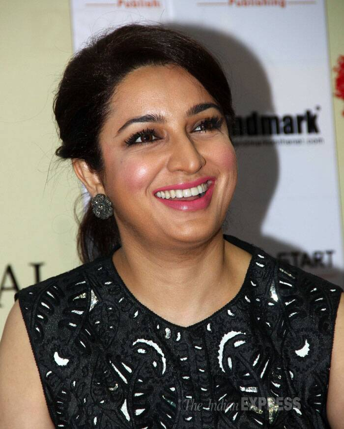 Actress Tisca Chopra attended a book launch that took place at a suburban mall. (Photo: Varinder Chawla)