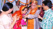 Never too late: N D Tiwari ties knot with mother of his biological son
