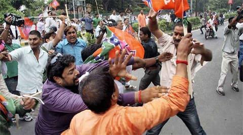 TMC BJP clash