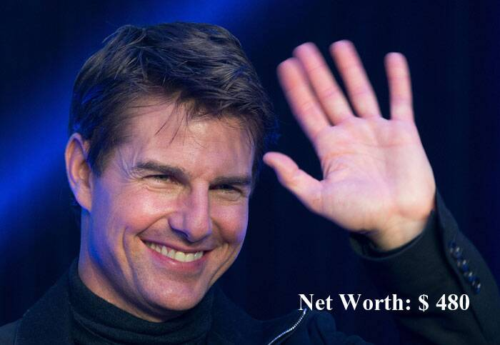 Third position was taken by 'Mission Impossible' star Tom Cruise. (Source: AP)