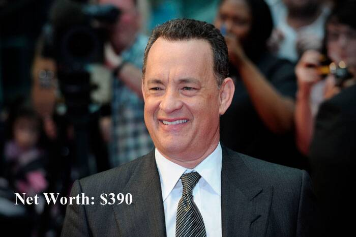 Academy Award winner Tom Hanks was placed at seventh position in the list.
