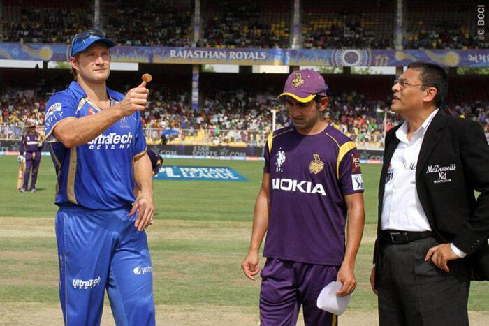Rajasthan Royals faced Kolkata Knight Riders in Ahemdabad on Monday. Royals' captain Shane Watson won the toss and decided to bat first. (Photo: BCCI/IPL)