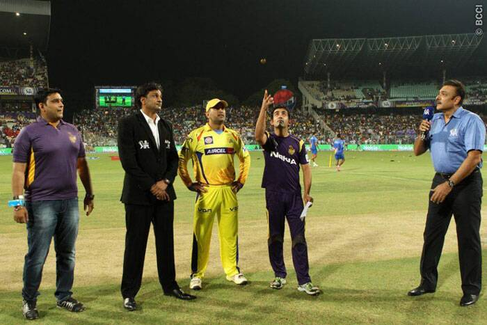 Playing their first game in Kolkata, Kolkata Knight Riders won the toss and decided to bowl first on a green top against the Chennai Super Kings. (Photo: BCCI/IPL)