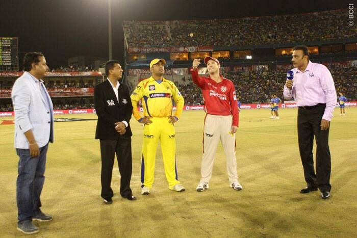 It was the clash of the two best teams in IPl 7 when Chennai Super Kings took on Kings XI Punjab in Cuttack. MS Dhoni won the toss and decided to bowl first. (Photo: BCCI/IPL)