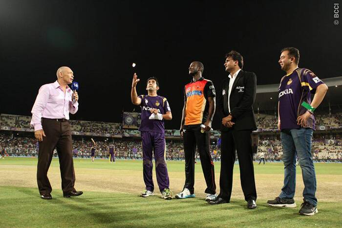 In an important match for the play-off spots, Kolkata Knight Riders took on Sunrisers Hyderabad in Kolkata. Gautam Gambhir won the toss and decided to bowl first. (Source: BCCI/IPL)