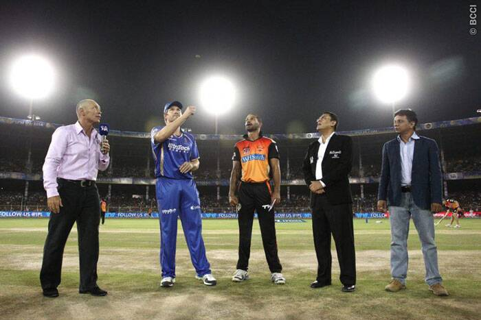 Rajasthan Royals and Sunrisers Hyderabad were up against each other in Ahmedabad. Rajasthan captain Shane Watson won the toss and invited Sunrisers to bat first. (Photo: BCCI/IPL)