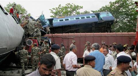 Train accident in Basti
