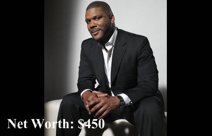 American actor Tyler Perry, who was seen in 'Star Trek', took away the fourth position. (Source: AP)