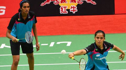 two is a crowd: Saina Nehwal and PV Sindhu lost their inconsequential doubles tie 12- 21, 21-18, 15-21 to Voravichitchaikul and Taerattanachai. (PTI)