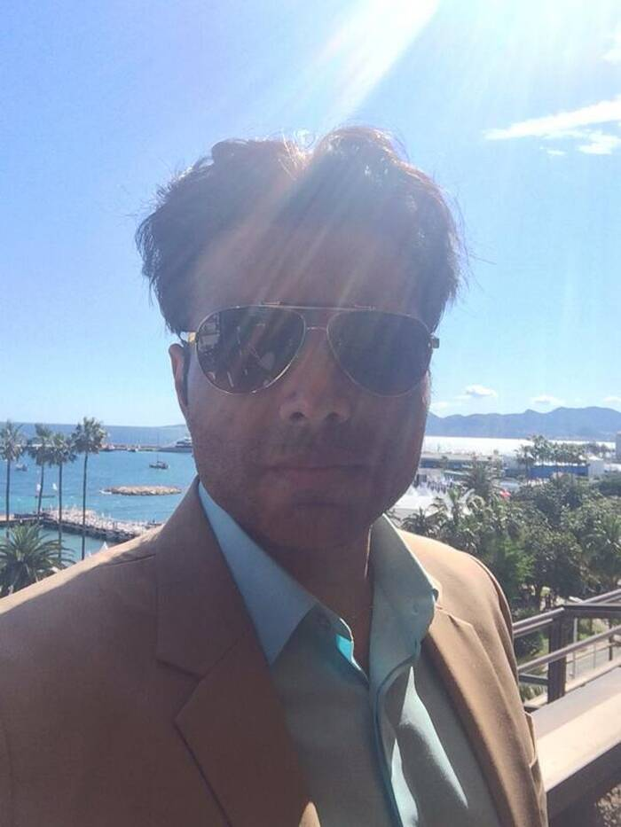 Actor-turned-producer Uday Chopra was suave in a blazer with shades at the opening of 67th Cannes Film Festival and the photo call of his production venture, 'Grace of Monaco'. (Source: Twitter)