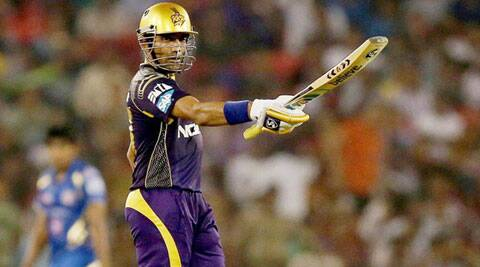 Robin Uthappa struck nine fours and three sixes during his stay in the middle (Photo: BCCI/IPL)