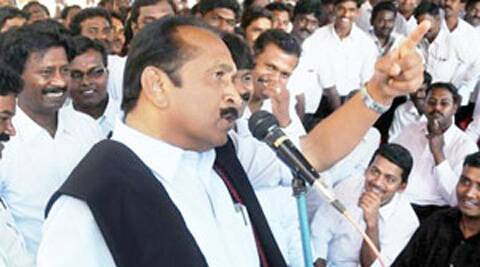 """We have lost our brothers and sisters. They (Sri Lankan Tamils) have been brutally murdered. What for he (Rajapaksa) should be brought in?,"" Vaiko said.  Source: Express Archive"