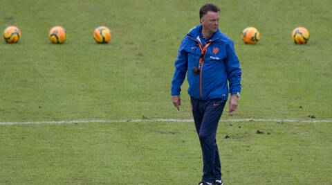 Louis van Gaal becomes the first United manager from outside Britain and Ireland. (AP)
