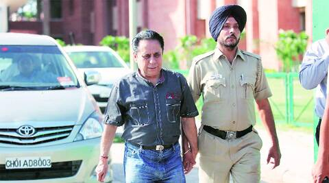 Dr Lalit Vermani after he surrendered in Chandigarh on Wednesday.  ( Source: Express photo by Jaipal Singh )