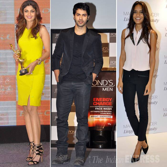 Shilpa Shetty opts for sunshine, Varun and Lisa keep it dark