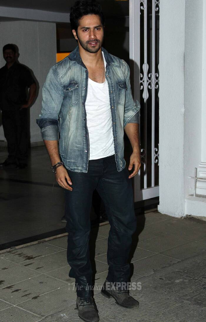 Varun was casually dressed at the party. (Source: Varinder Chawla)