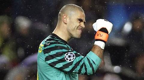 Barcelona can give Valdes a seventh Spanish league title if it beats Atletico Madrid on Saturday (AP)