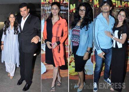 Couples Vidya Balan-Siddharth Roy Kapur, Sushant-Ankita enjoy movie date