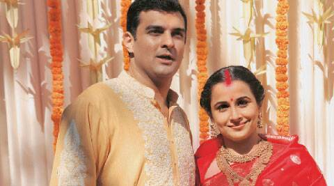 Siddharth Roy Kapur with wife Vidya Balan.