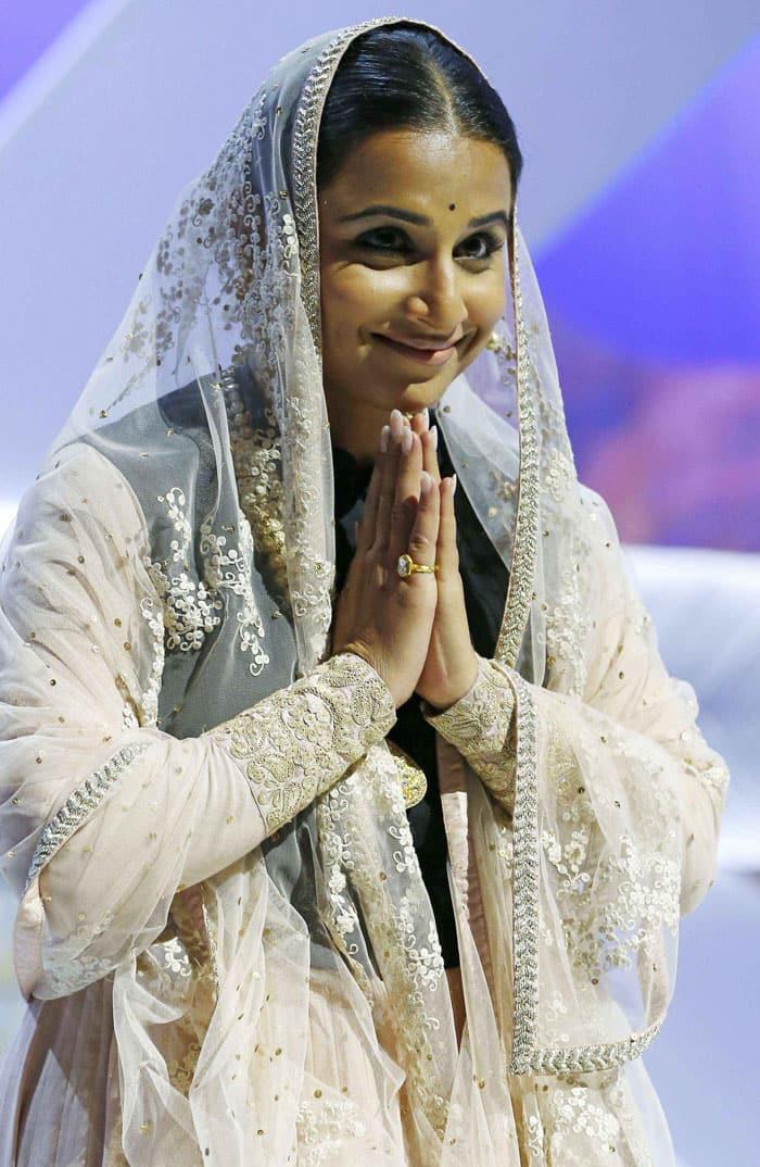 Vidya Balan says 'namaste'. (Reuters)