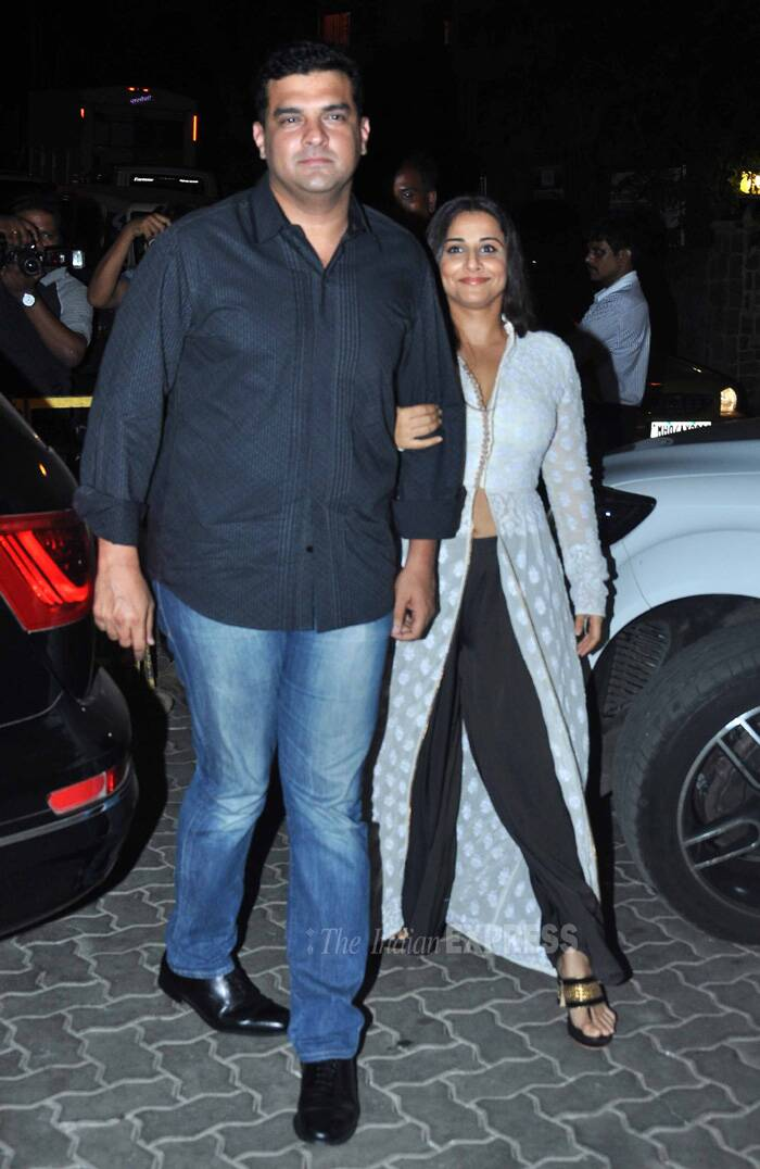 Dispelling rumours, actress Vidya Balan came hand-in-hand with her husband and UTV head Siddharth Roy Kapur. (Source: Varinder Chawla)