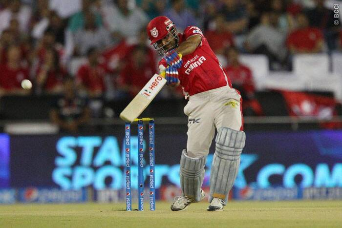 MS Dhoni's decision back-fired as Virender Sehwag took the attack to Chennai bowlers. Sehwag made 30 runs off 23 balls with five fours and one six. (Photo: BCCI/IPL)