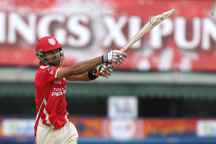 Manan Vohra, the surprise package for Punjab this season once again performed for his team. He was brilliant in his 38-ball stay at the crease scoring 47 runs. (Source: BCCI/IPL)