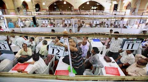Counting for bypolls in three Lok Sabha and 33 Assembly seats across 10 states began on Tuesday morning.