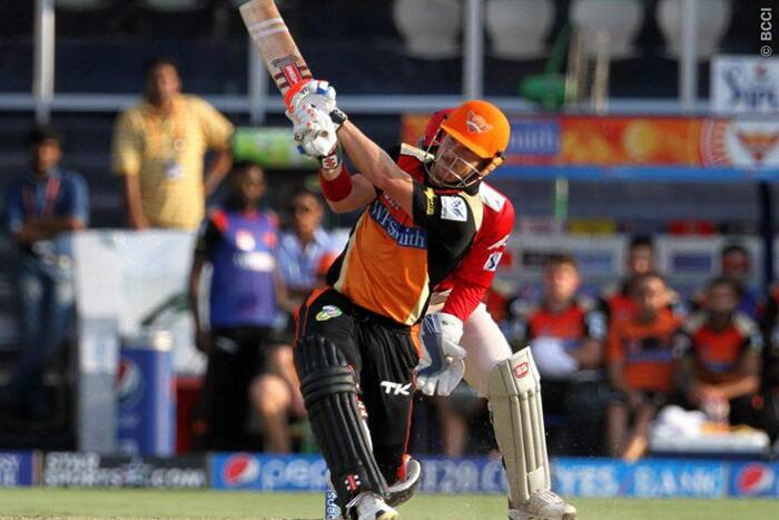 Sunrisers Hyderabad batsman David Warner's clinical knock of 44 runs (23 balls) helped his team to cruise to a 200-plus total. (Photo: IPL/BCCI)