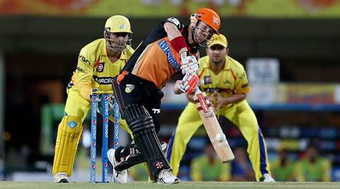 David Warner smashed a 45-ball 90 against Chennai Super Kings in Ranchi (Photo: BCCI/IPL)