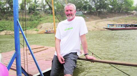 William Chalmers on a Mekong ferry; in Kyoto.