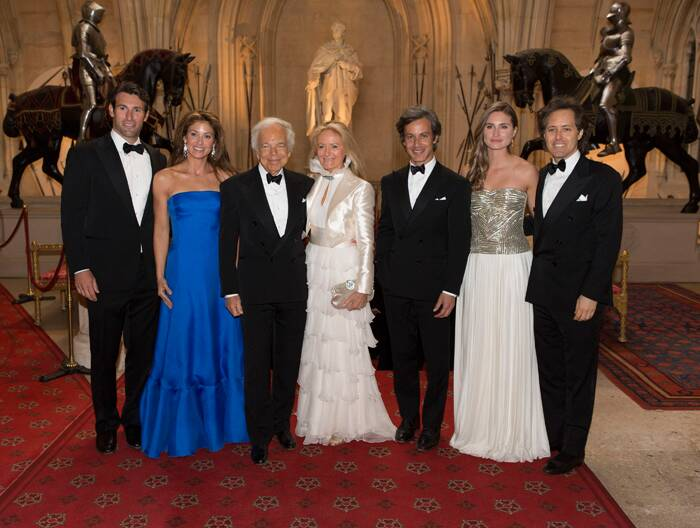 Ralph Lauren and Ricky Anne pose for a group picture with their handsome family at Windsor Castle. ( Source: AP )