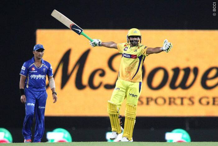 Ravindra Jadeja celebrates Chennai Super Kings' win against Rajasthan Royals. (Photo: IPL/BCCI)