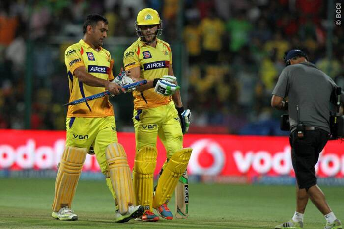 It was a familiar scene for the Chennai Super Kings as they crushed a listless Royal Challengers Bangalore by eight wickets to remain at the second spot in IPL 7 points table. (Source: IPL/BCCI)