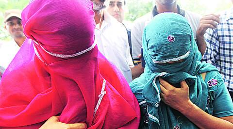 (Left) The boys rescued from the arrested women.  ( Source: Express photo by Prem Nath Pandey )