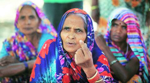 Women in Jaunpur: they will vote as their husbands say. (Vishal Srivastav)