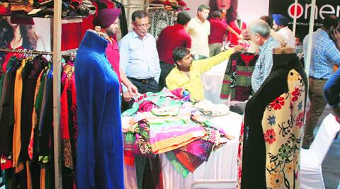 During the buyer-seller meet of knitwear industry in Ludhiana on Monday. ( Source: Express photo by Gurmeet Singh )
