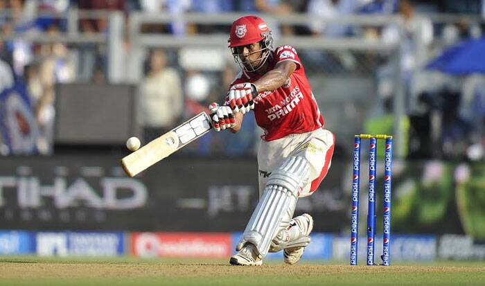 Kings XI Punjab wicketkeeper-batsman  Wriddhiman Saha played a fantastic knock of 59 runs from 47 balls. Although he took some time to settle down, he stayed till the very end to ensure that Kings XI Punjab reach a respectable total against Mumbai Indians. (IE Photo Prashant Nadkar)