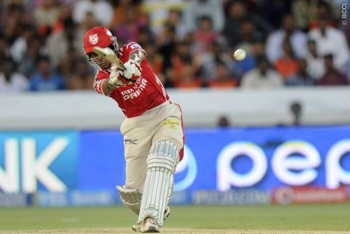 Kings XI Punjab's wicketkeeper-batsman Wriddhiman Saha was in blazing form against Sunrisers Hyderabad as he struck a trailblazing 54 runs off just 26 balls. He was later stumped by Naman Ojha off Karn Sharma's bowling. (Photo: IPL/BCCI)