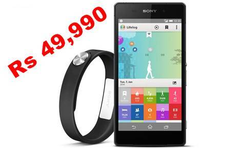 The Sony Xperia Z2 has the same price as the HHTC One M8, but comes with the SmartBand free