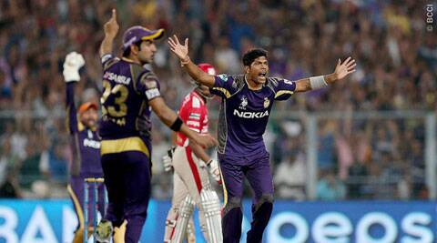 Umesh Yadav was the pick of the bowlers with impressive figures of 3/13 (Source: IPL/BCCI)