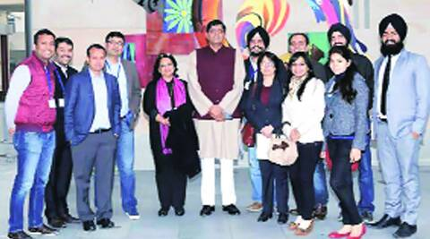 The CII's Young Indians team. ( Source: Express photo )