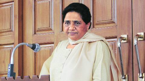 BSP chief Mayawati holds a press meet in Lucknow thursday.