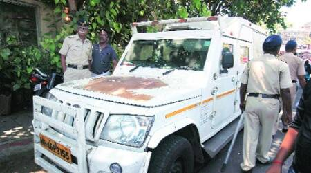The vehicle in police custody. (Dilip Kagda)